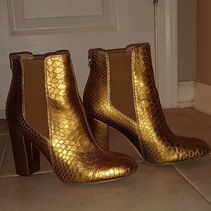 Gold Sam Edelman Booties